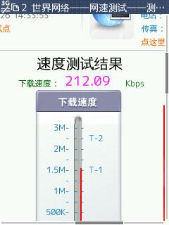 Unicom W-CDMA Speed Test No.1